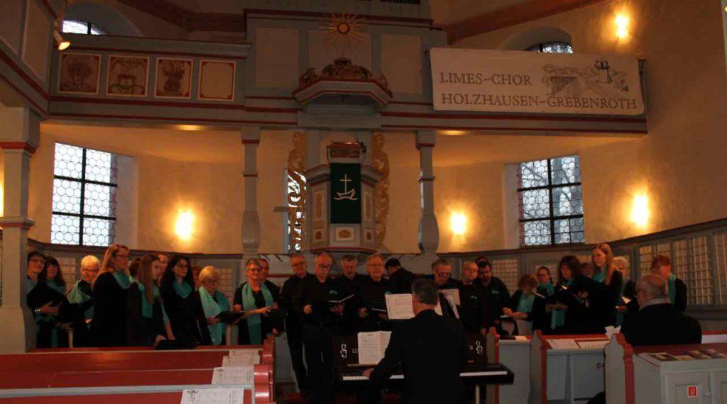 Limes-Chor Holzhausen-Grebenroth Konzert in der Kirche Januar 2019